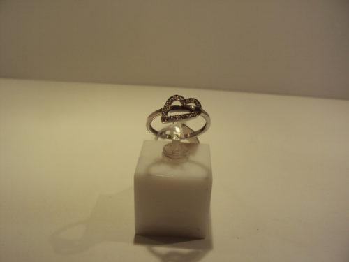 Anillo oro blanco corazón 275 euros