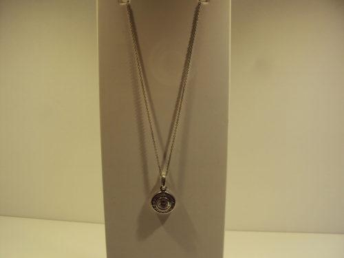 Cadena y colgante plata doble círculo de circonitas.39€