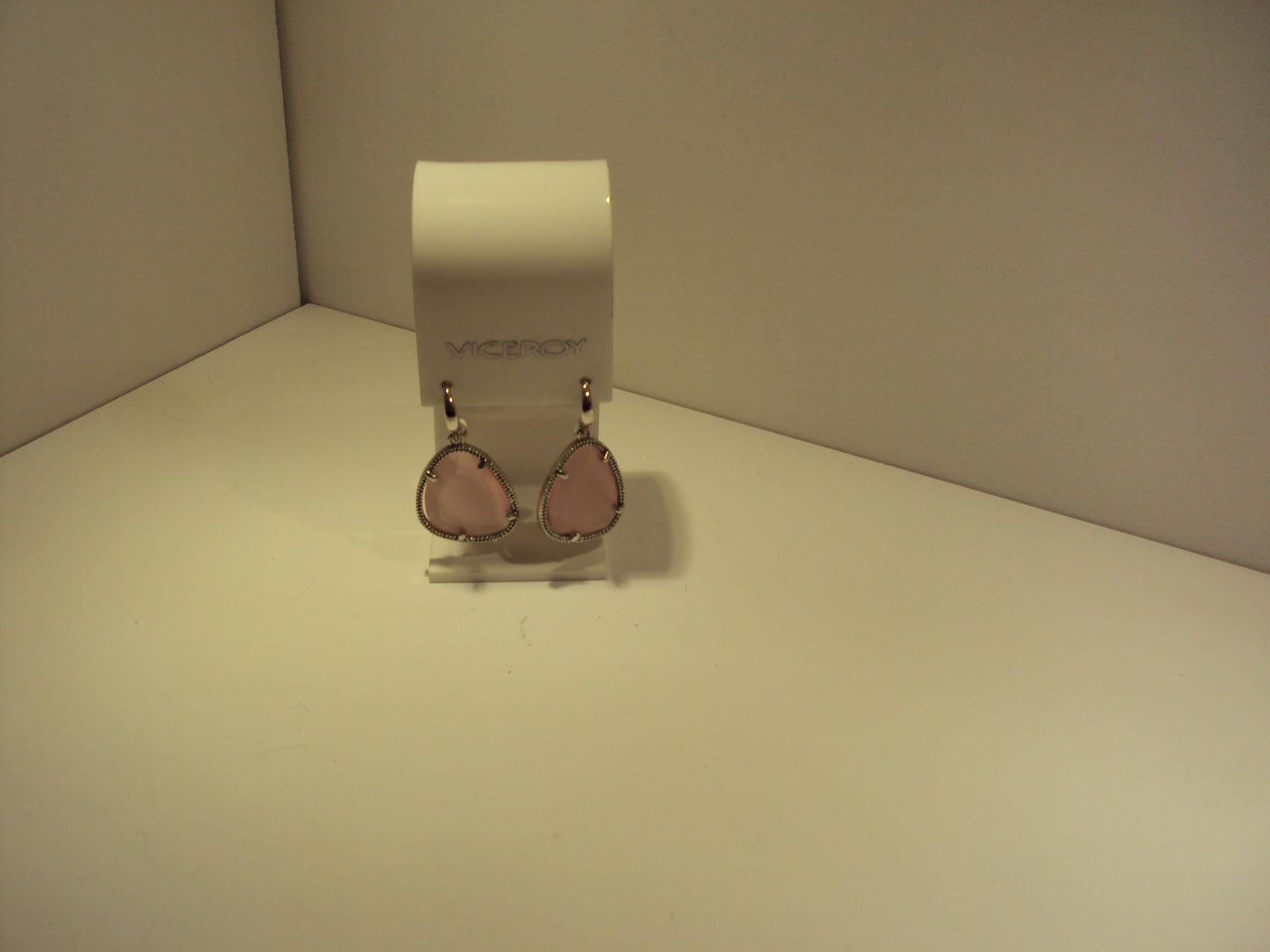 Pendientes de plata Viceroy con piedras rosadas 59€