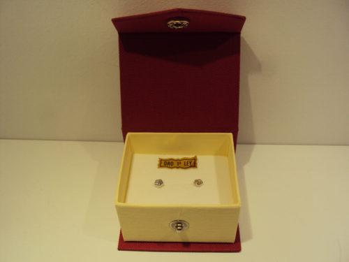 Pendientes oro blanco margaritas 65e