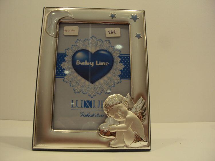 Marco de plata con un angelito azul 48€