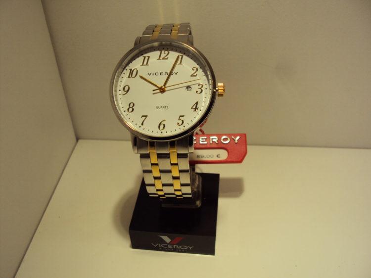 Reloj Viceroy de hombre bicolor acero con calendario.89€