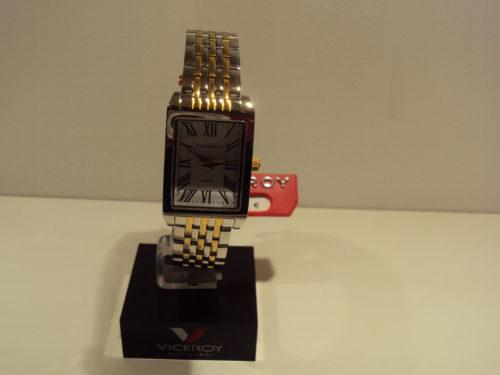 Reloj Viceroy de mujer Bicolor rectangular con números romanos.99€