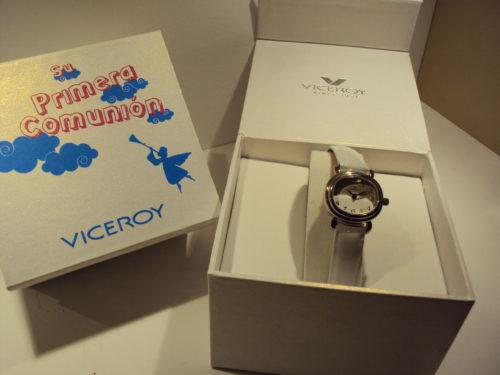 Reloj Viceroy acero con correa blanca.59€