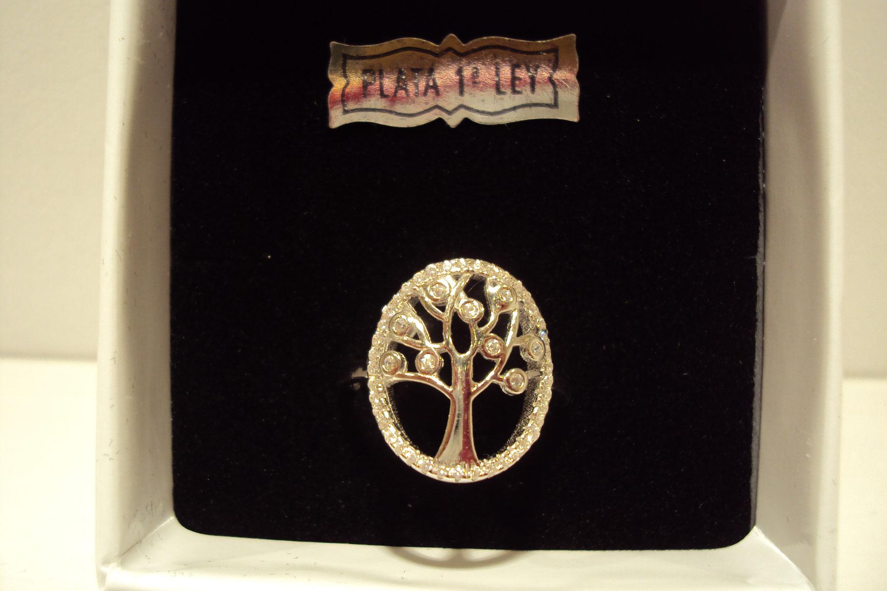 Anillo Árbol de la vida con circonitas en las ramas.29€