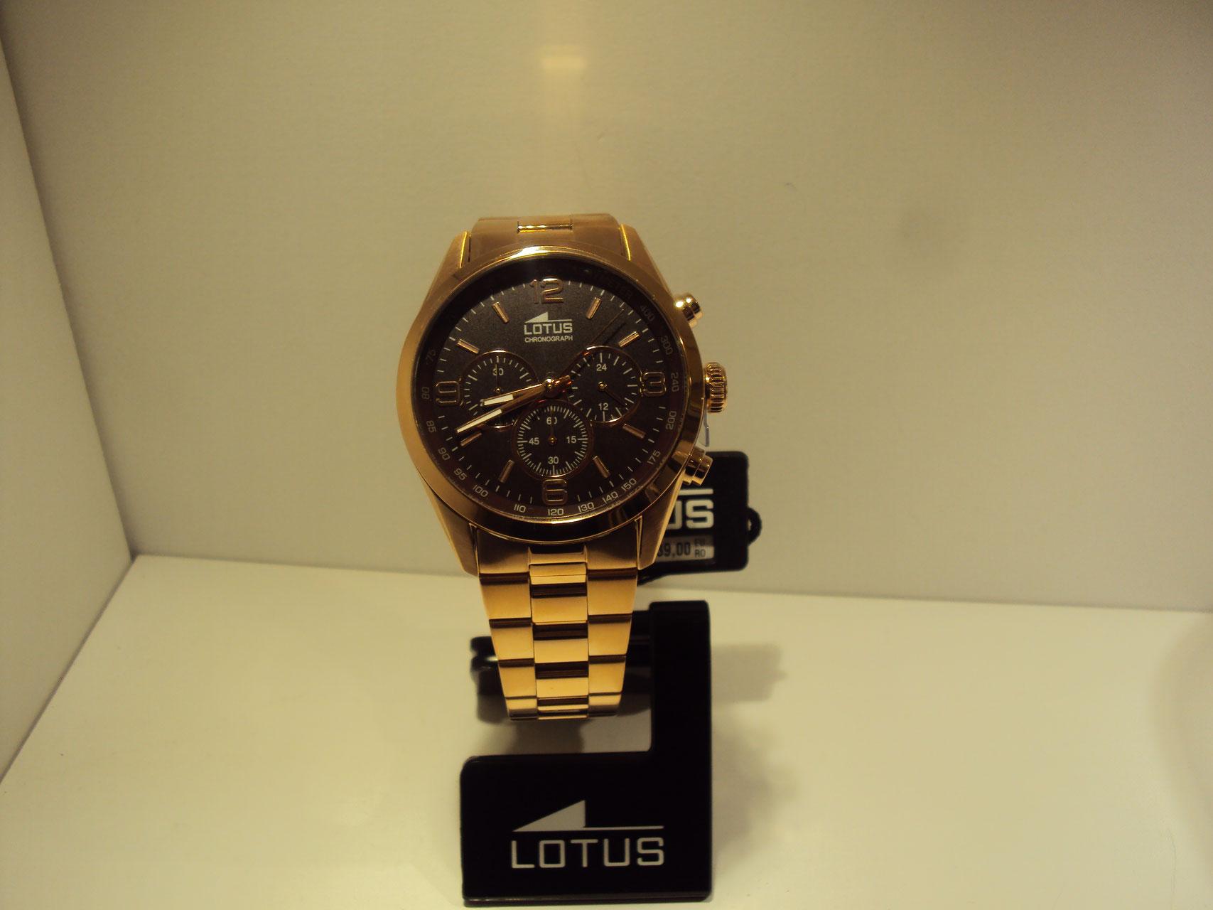 Reloj Lotus cronográfo de hombre cobrizo con esfera de color chocolate.139€