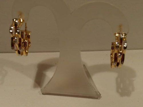 Aros de oro bicolor Aros de oro bicolores en oro blanco y oro amarillo de 18 quilates. Precio 340€